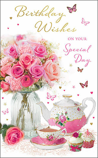 Birthday Card Female Tall Birthday Wishes Special Day