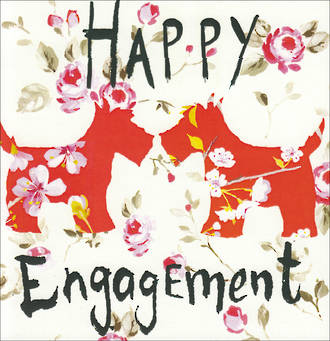 Engagement Card Sooshichacha Happy Dogs