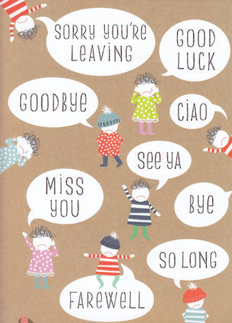 Jumbo Card Pip & Me Sorry You're Leaving Goodbye Good Luck