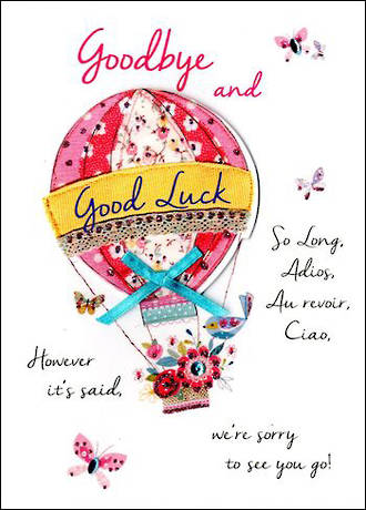 Goodbye Card Just To Say Good Luck