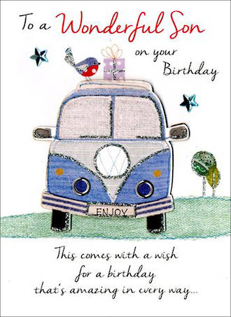 Son Birthday Card Just To Say Birthday Combi