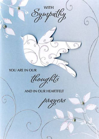 Sympathy Card Just To Say Dove
