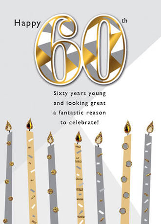 Birthday Age Card 60 Male Just To Say Candles