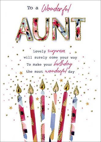 Aunt Birthday Card Just To Say Wonderful Aunt