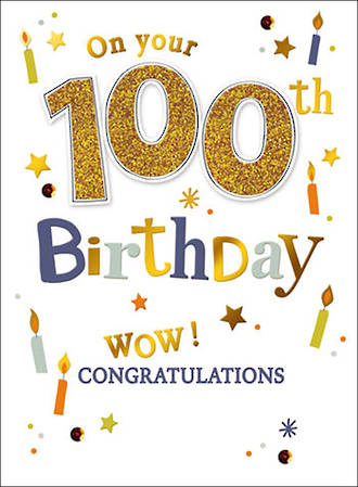 Birthday Age Card 100 Male Just To Say Wow