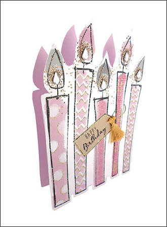 Paper Dazzle Female Candles