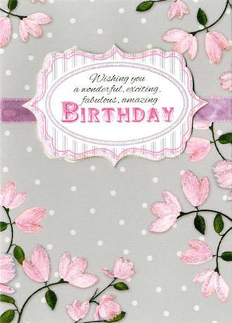 Yours Truly Birthday Pink Plaque