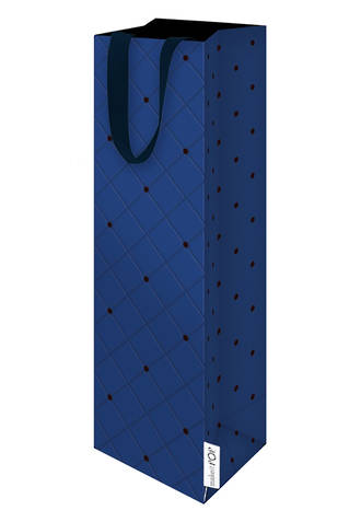 Bottle Gift Bag Quilted Navy