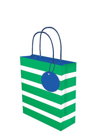 Small Gift Bag Lollypop Green Stripe