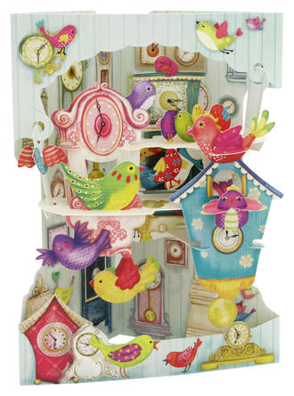 Swing Cards Birds And Clocks