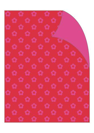Folded Wrap Red Pink Daisy Dot