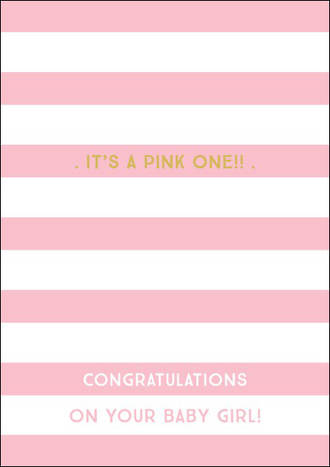 Baby Card Girl Ink Its A Pink One