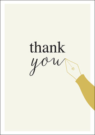 Thank You Card Ink Pen