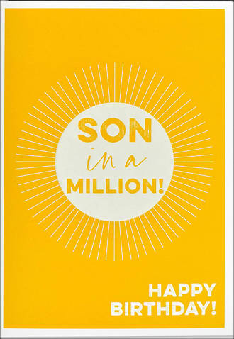 Son Birthday Card Rogue Son In A Million