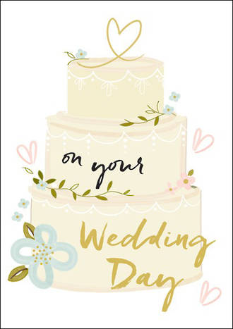 Wedding Card Wish Cake