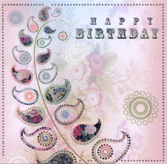 Female Birthday Card: Portobella Fern