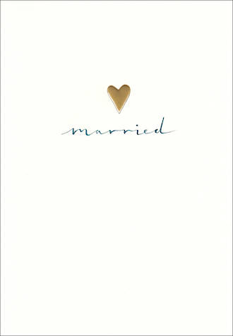 Wedding Card Perfect Day Married