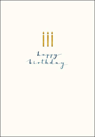 Birthday Card Male Gold Candles