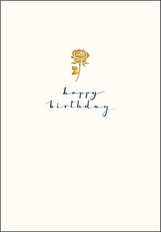 Birthday Card Female Gold Rose