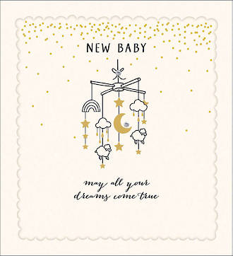 Baby Card Proper Mail New Baby Dotty