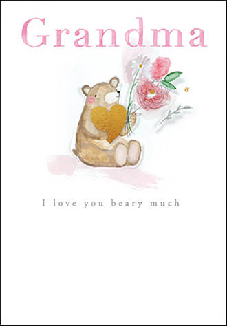 Grandmother Birthday Card Love You Beary Much