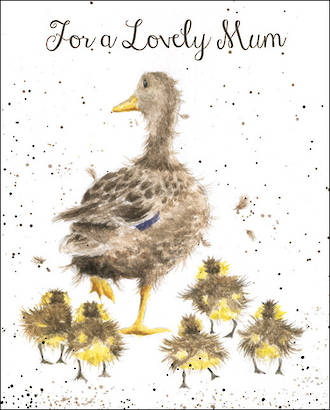 Mum Birthday Card Fur Feathers Wrendale Lovely Ducks