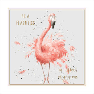 Wrendale Words of Wisdom Be a Flamingo