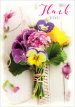 Thank You Card Posies & Petals Bouquet