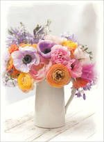 Mini Card Flowers Vase
