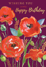 Blooming Botanicals Birthday Red Flowers