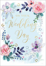 Wedding Card Embossed Floral