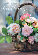 Posies & Petals Birthday Basket