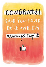 Congratulations Card Straight Talkin