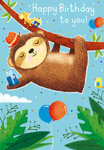 Kid's Birthday Card Boy Monkey
