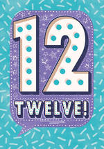 Birthday Age Card 12 Girl Speech Bubble