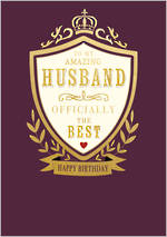 Husband Birthday Card Life & Soul Shield