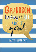 Grandson Birthday Card Life & Soul About You