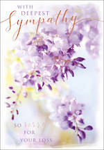 Sympathy Card Posies & Petals Purple