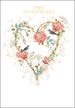 Anniversary Card Belgravia Floral Heart