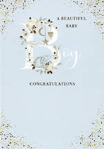 Baby Card Boy Belgravia Congratulations