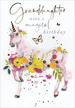 Grandaugther Birthday Card Azalea Large Magical Birthday
