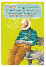 Dad Birthday Card Frank By Name Large Dad Nap