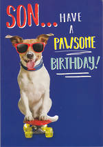Son Birthday Card Rapture A Pawsome Birthday