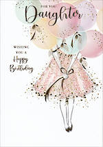 Daughter Birthday Card Belgravia With Balloons