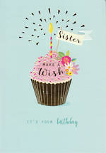 Sister Birthday Card Life & Soul Birthday Wish Cake