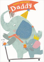 Dad Birthday Card 100% Kids Birthday Elephant