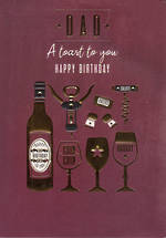 Dad Birthday Card Large Toast To You