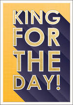 Presswork King For The Day