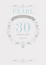 Anniversary Card 30th Pearl Wonderful Years