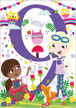 Birthday Age Card 9 Girl 100% Kids